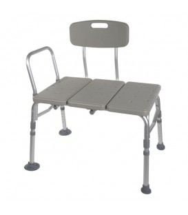 Drive Plastic Transfer Tub Bench with Adjustable Backrest