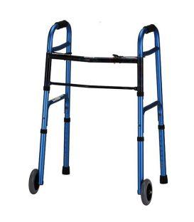 """Lumex Everyday Walker W/5"""" Wheels Dual Release -  Blue"""