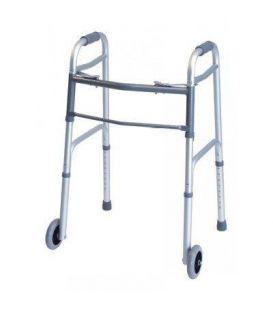 Lumex Everyday Dual Release Walker w/ Wheels - Silver