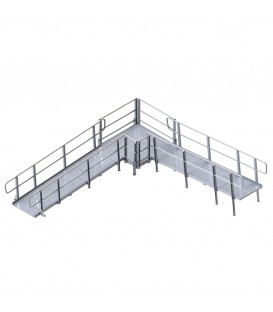 PVI Modular XP Ramp (w/ Legs & Handrails) 36 Inches Wide