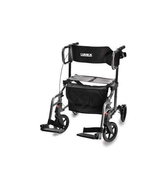 Lumex Hybrid Lx 4 Wheel Rollator Transport Chair