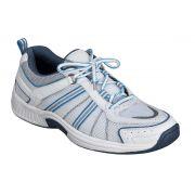 OrthoFeet Women's Tahoe Diabetic Shoes - Blue/White