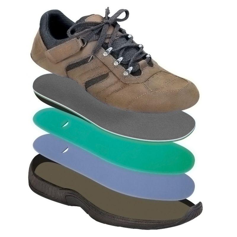 Orthofeet Men S Shreveport Diabetic Shoes Brown