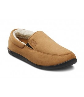 Dr. Comfort Women's Cuddle Diabetic Slippers - Camel