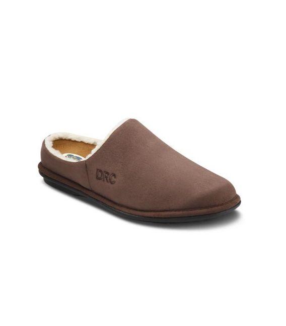 Dr Comfort Men S Easy Diabetic Slippers Chocolate