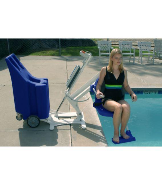 Aqua Creek Portable Pro Pool Lift With Weight Plates