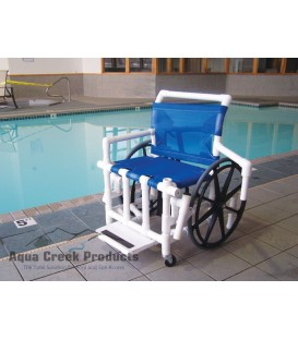 "Aqua Creek Pool Access Chair 24"" Mesh- 350 lb. Wt. Cap."