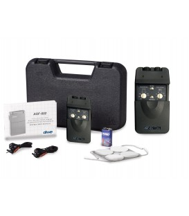 Portable Analog Dual Channel TENS Unit with Timer & Electrodes