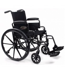 Everest & Jennings Traveler L4 Lightweight Wheelchair-Asst Arm & Leg Types