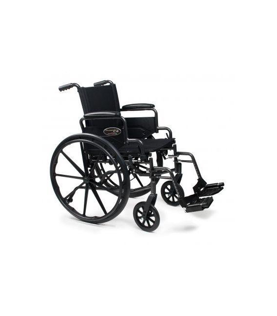 3F020160 - Wheelchair 18X16 Adjustable Height Desk Arm, Swingaway Footrest, Quick Release Wheels