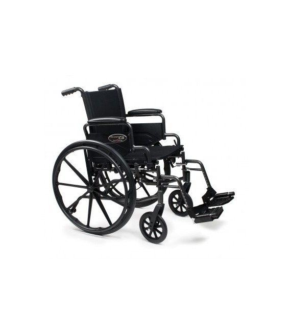 3F020260 - Wheelchair 16X16 Adjustable Height Desk Arm, Swingaway Footrest, Quick Release Wheels