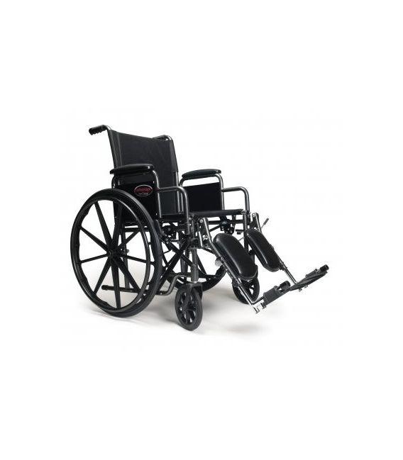 3F020370 - Wheelchair 20X16 Adjustable Height Desk Arm, Elevating Legrest, Quick Release Wheels