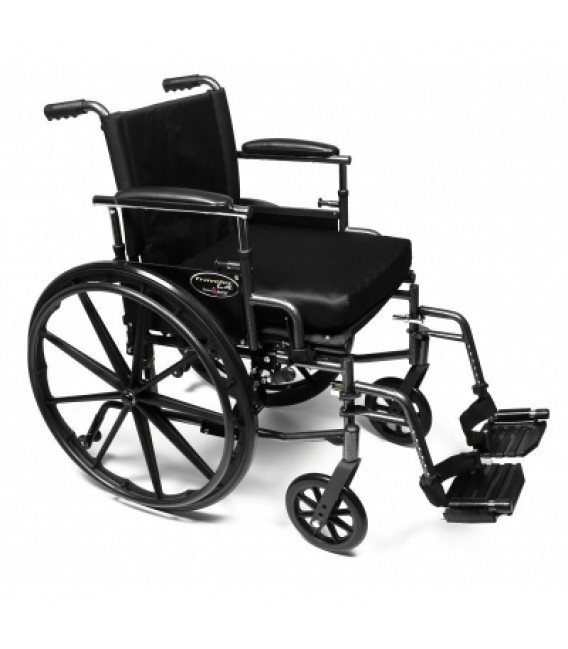 "3F030160 - 18"" x 18"", Adjustable Height Desk Arms, Swingaway Footrest, Quick Release Wheels"