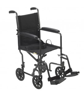 Drive Lightweight Steel Transport Chair with Swing Away Footrests