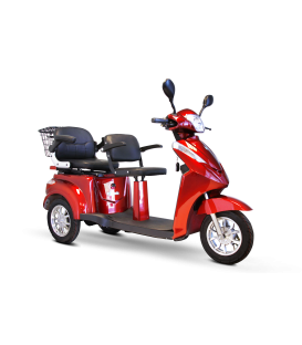 E-Wheels EW-66 2 Passenger 3-Wheel Bariatric Scooter