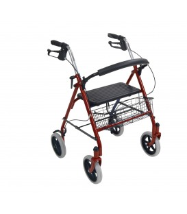 "Drive Durable 4 Wheel Rollator with 7.5"" Casters"