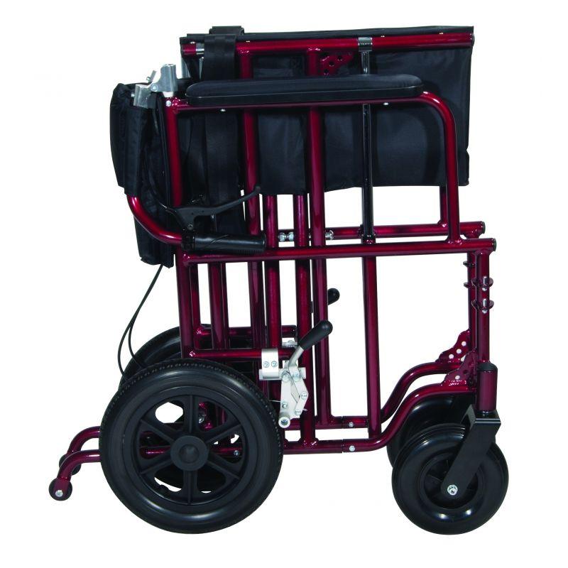Drive Bariatric Aluminum Transport 22 Quot Wheelchair