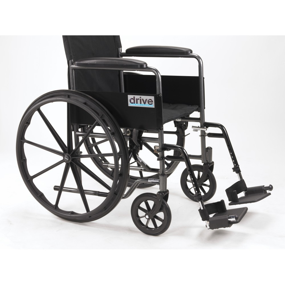 Silver Sport 1 18 Quot Wheelchair With Full Arms Amp Swingaway