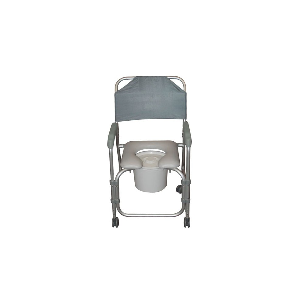 Aluminum Shower Chair And Commode With Casters American