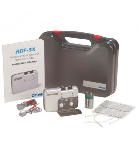 Portable Analog  Dual Channel TENS Unit with Electrodes and Carry Case